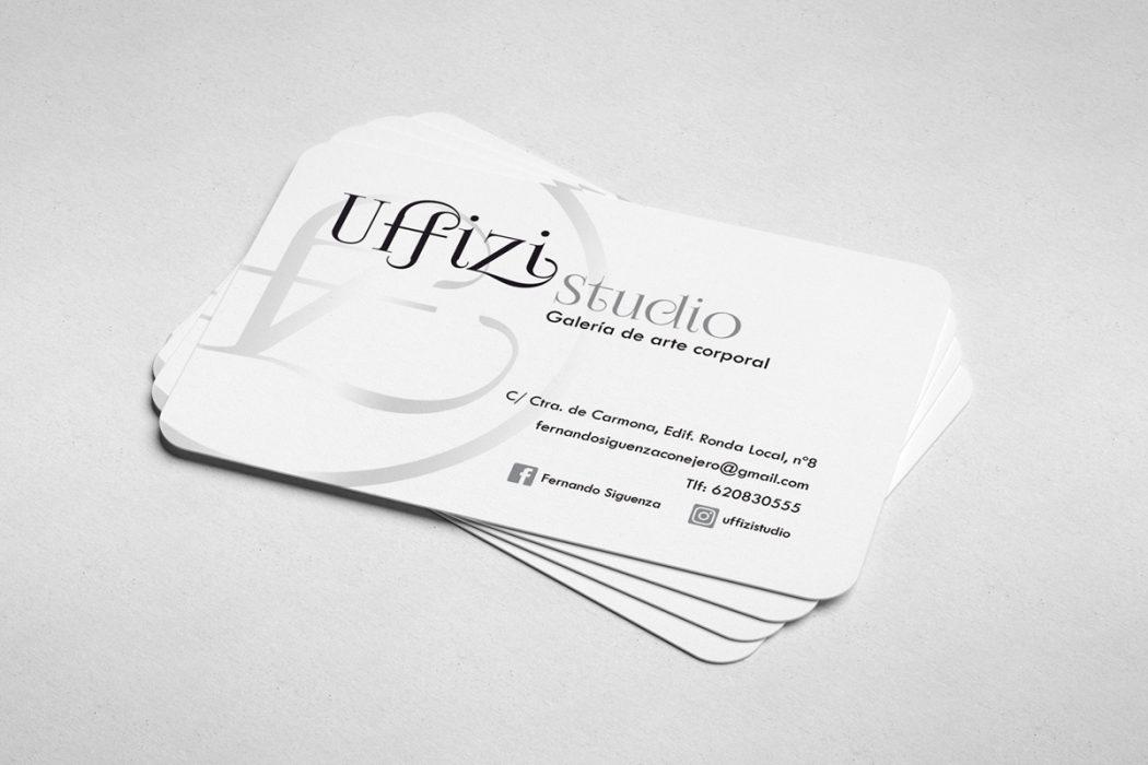 Uffizi Studio - Tarjeta Corporativa Reverso