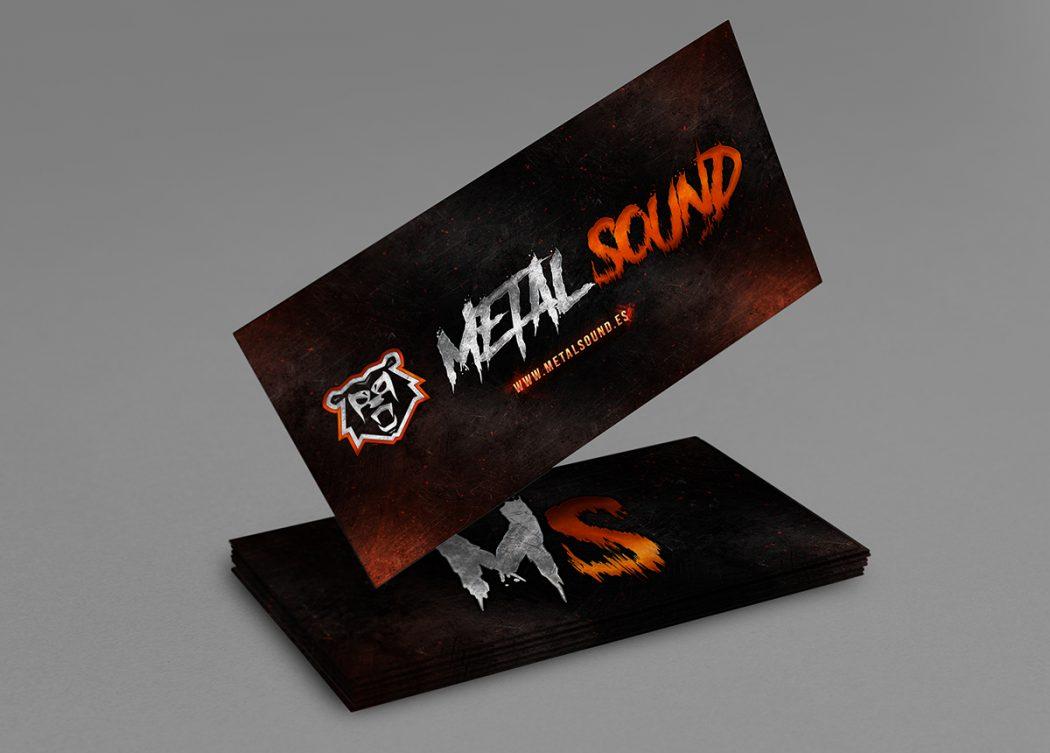 Metal Sound · Tarjeta Corportaiva