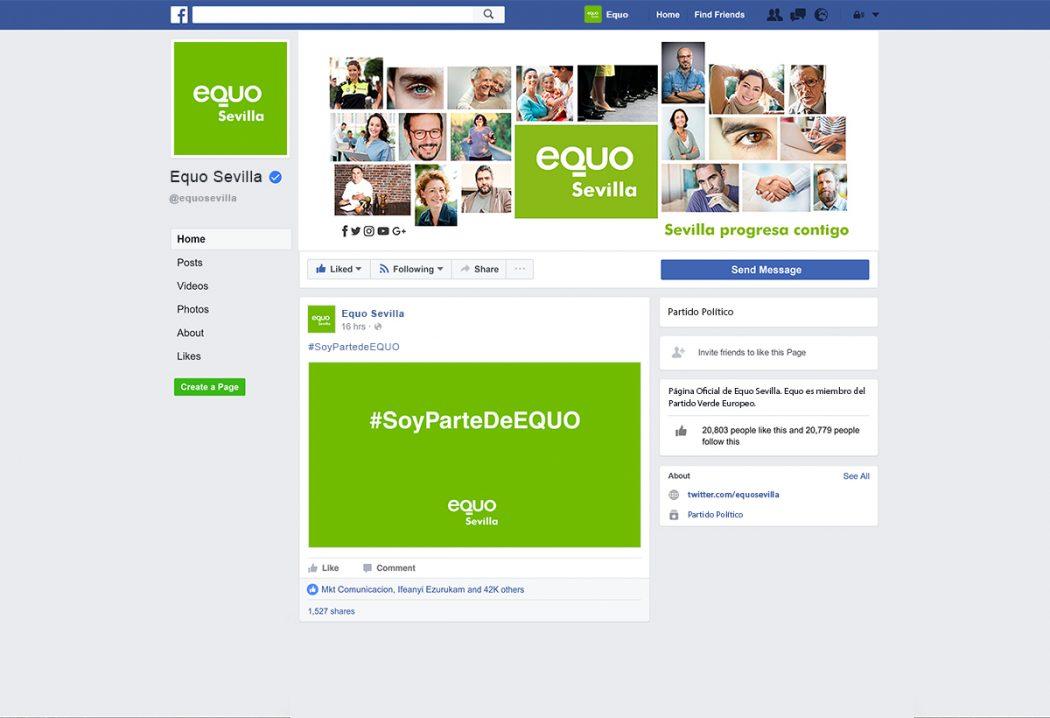 Equo - Ejemplo Redes Sociales